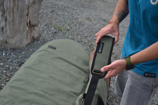 Close up of the desert boardbag strap