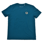 Our Heritage Tee in ocean blue