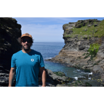 Cornish Surf Brand Rooted Ocean - Heritage-Tee-Ocean